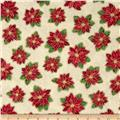 Christmas Star Tossed Poinsettia Cream