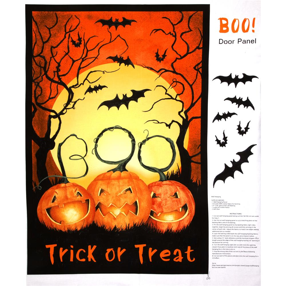 Halloween Boo Scene Door Orange