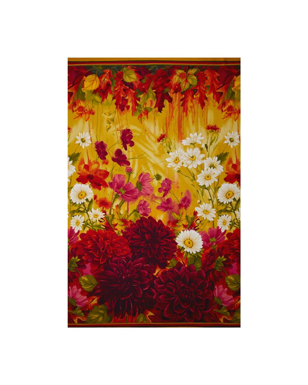 Timeless Treasures Dahlia Large Scale Border Multi
