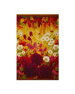 "Timeless Treasures Dahlia Large Scale 24"" Panel Multi"