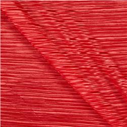 Pleated Bodre Solid Coral