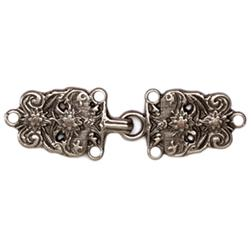 Buckle Bavarian Clasp 2 3/4'' Antique Silver