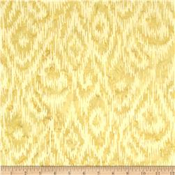 Bali Batik Handpaints Ikat Antique Beige Fabric