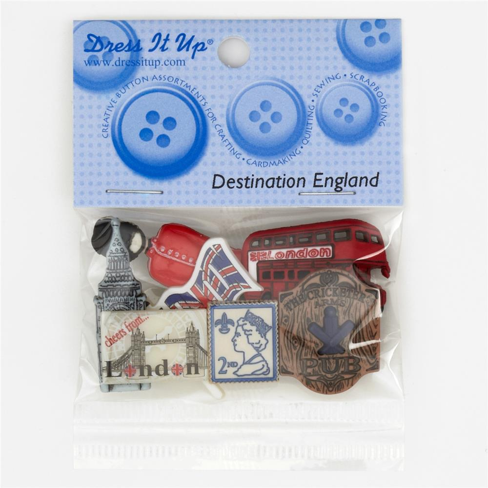 Dress It Up Embellisment Buttons  England