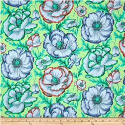 Kaffe Fassett Collective Banded Poppy Sage Fabric