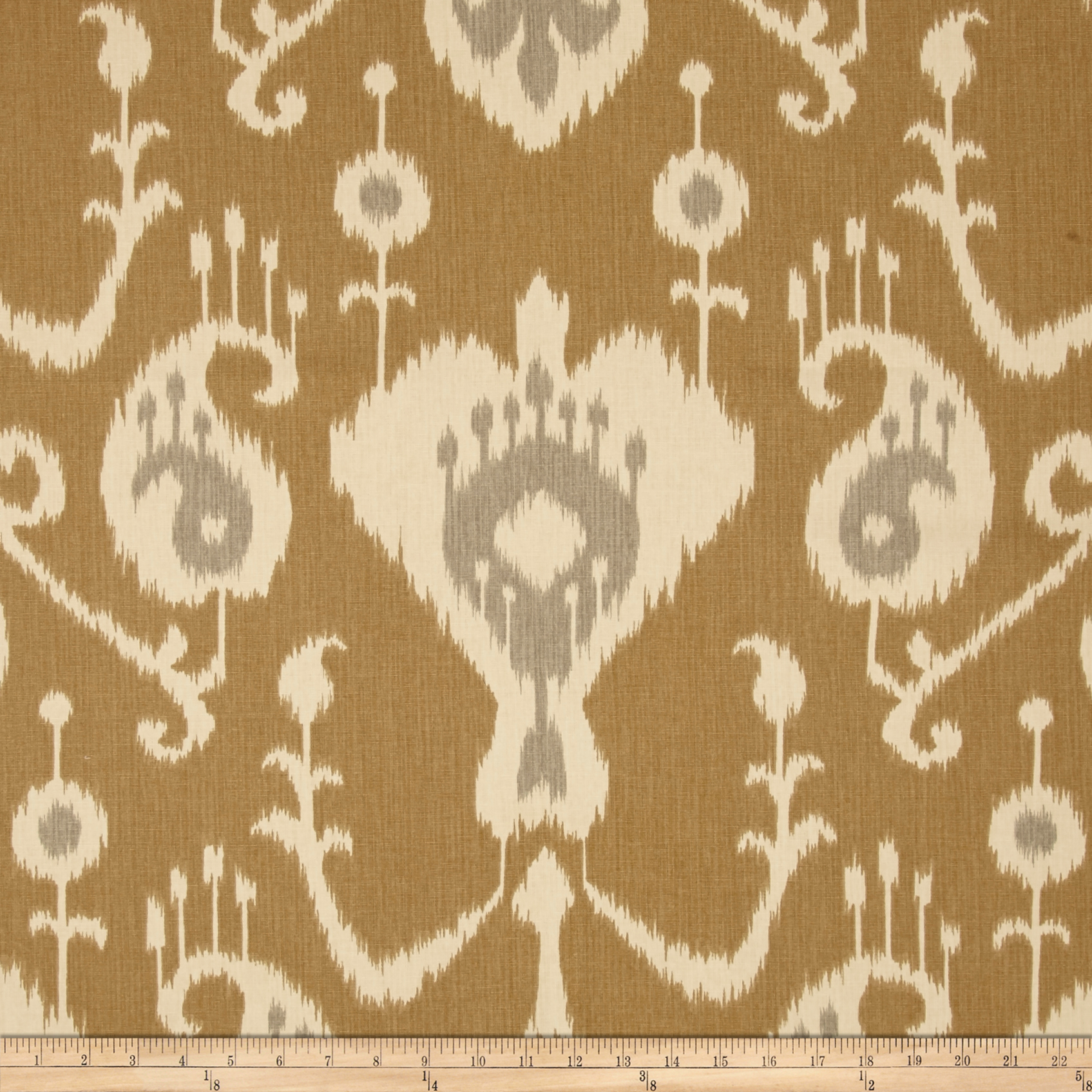 Magnolia Home Fashions Java Ikat Umber Fabric by Magnolia in USA