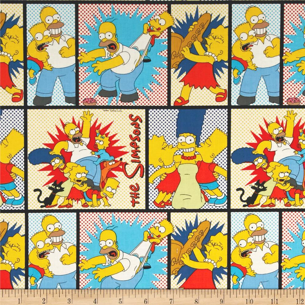 The Simpsons Character Blocks White