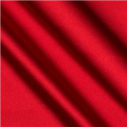 Stretch Charmeuse Satin Sizzling Red