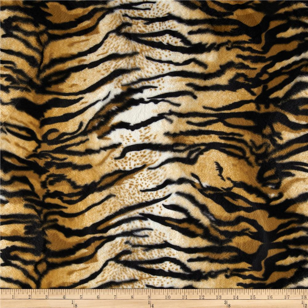 Velboa Faux Fur Tiger Gold
