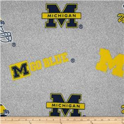 Collegiate Fleece University of Michigan Heather Grey