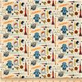 Riley Blake Rocket Age Flannel Rocket Captain Cream