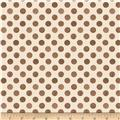 Romantic Afternoon Flannel Dots Tan/Brown