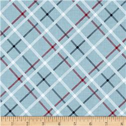Riley Blake Play Ball 2 Plaid Blue
