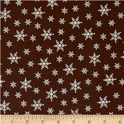 Winter is Coming Snowflake Brown