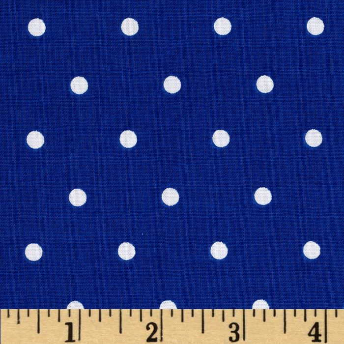 Riley Blake Maritime Modern Bubbles Dot Blue