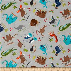 Moda Hello World Wild Things Grey