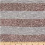 Designer Fine Gauge Lurex Sweater Knit Stripe Grey/Copper