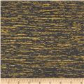 Quilters Tussah Metallic Black