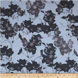 Soho Stretch Twill Floral Blue Fabric