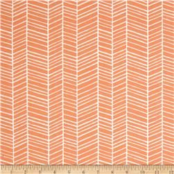 Joel Dewberry Flora Herringbone Carrot Fabric