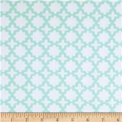 Kaufman Little Prints Double Gauze Trellis Mint
