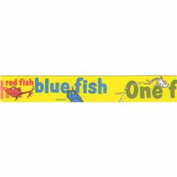 "7/8"" Dr. Seuss One Fish Two Fish Ribbon Yellow"