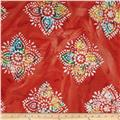 Indian Batiks Large Medallion Red