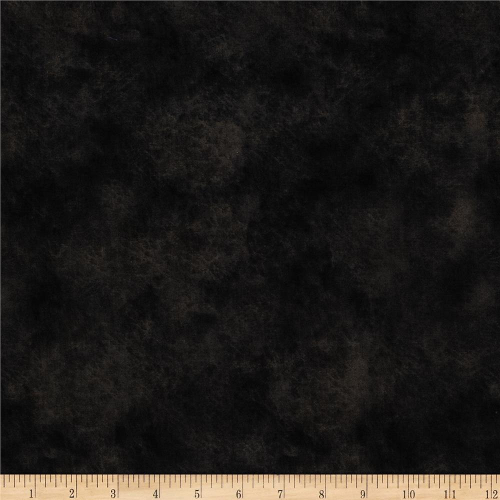 Round up 115 wide quilt backing leather texture black for Black fabric