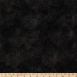 "Round Up 118"" Wide Quilt Backing Leather Texture Black"