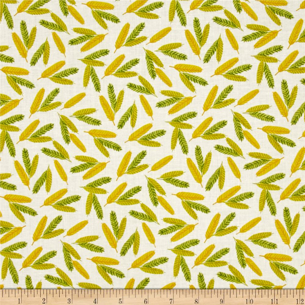 Flower Pedals Organic Feathers Chartreuse