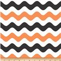 Riley Blake Wave Orange/Black