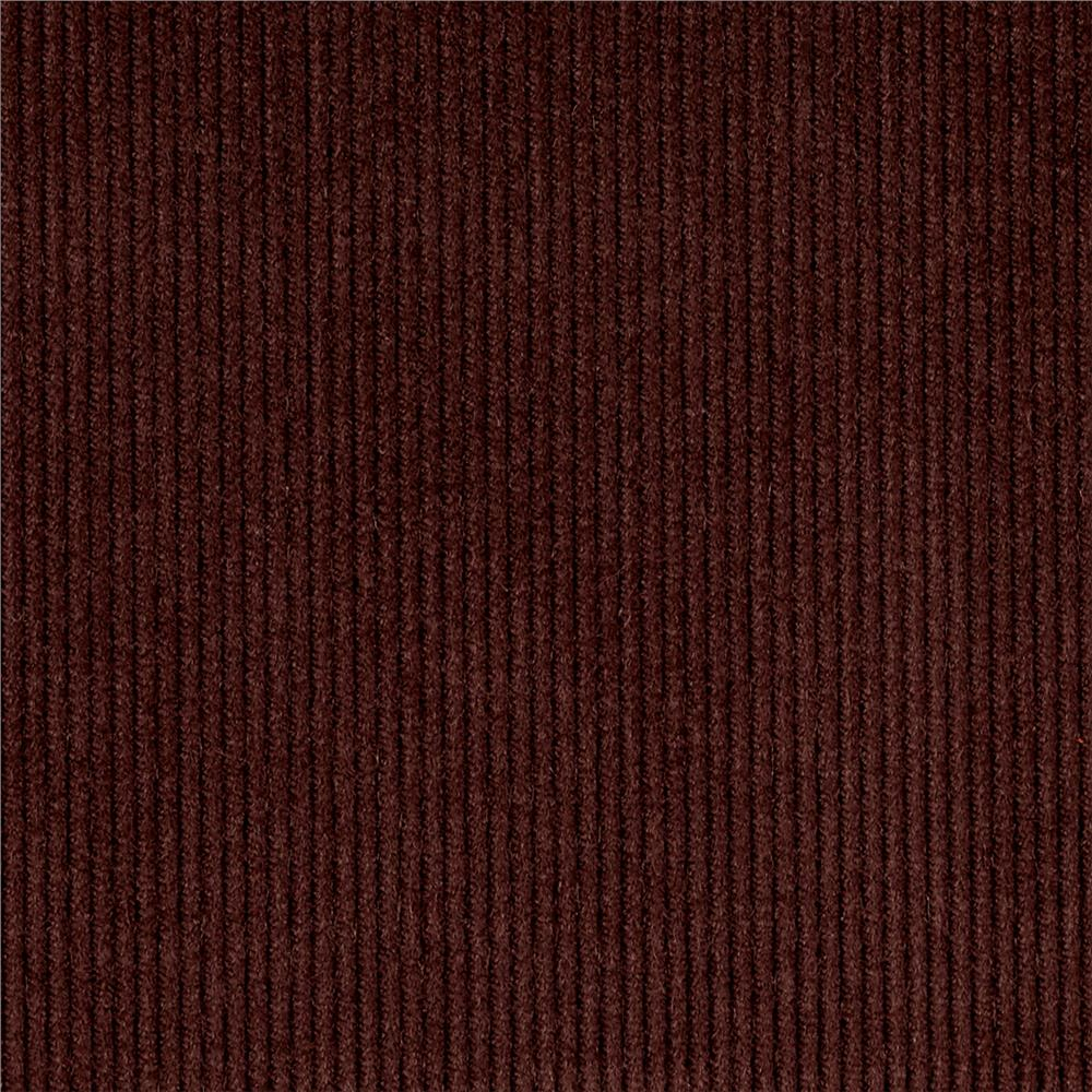 Kaufman 14 wale corduroy chocolate discount designer for Corduroy fabric