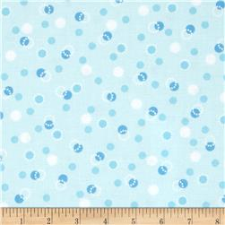 Kimmy's Sonata Dotted/Dots Aqua Fabric