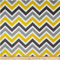 Minky Cuddle Chevron Lemon/Silver