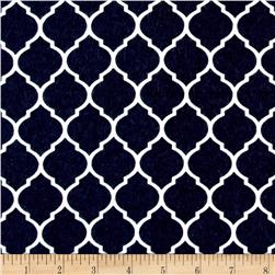 Flannel Trellis Midnight