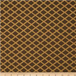 Duralee Lattice Diamonds Satin Jacquard Espresso