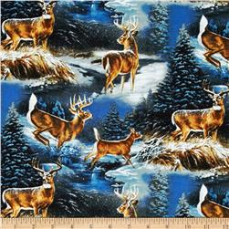 Wild Wings Wintergreen Scenic Blue Fabric