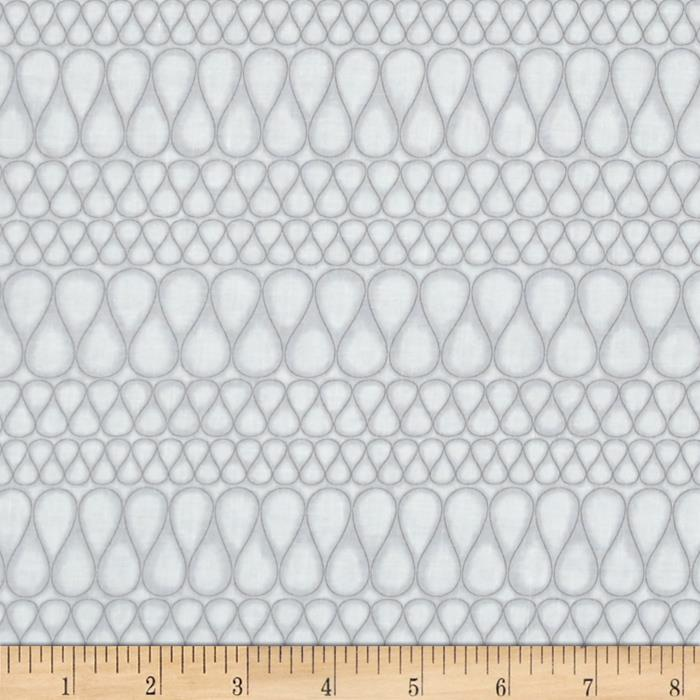 Kaufman Drawn Squiggle Stripe Pewter
