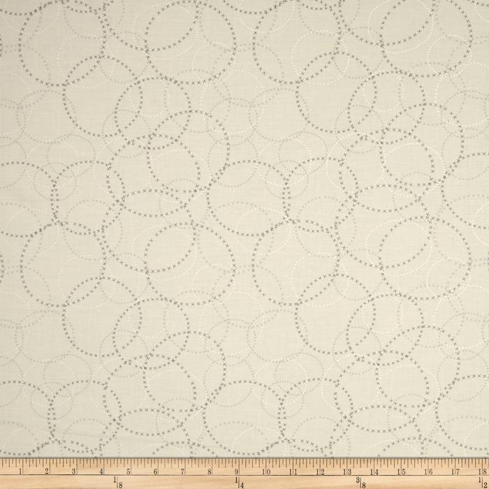 Moda Modern Background Paper XOXO Graphite - Eggshell