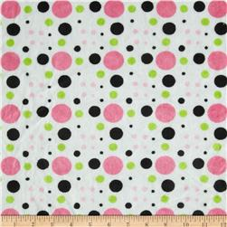 Minky Venus Dots Lime/Black