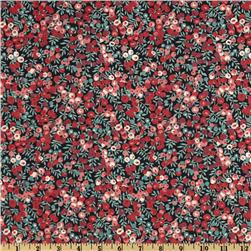 Liberty of London Tana Lawn Wiltshire Black/Teal/Rose