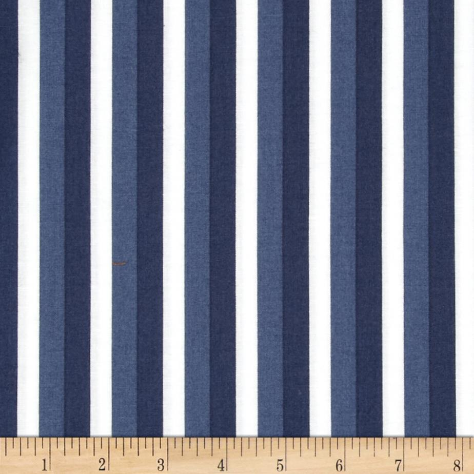 Moda Color Theory Ombre Stripes Navy