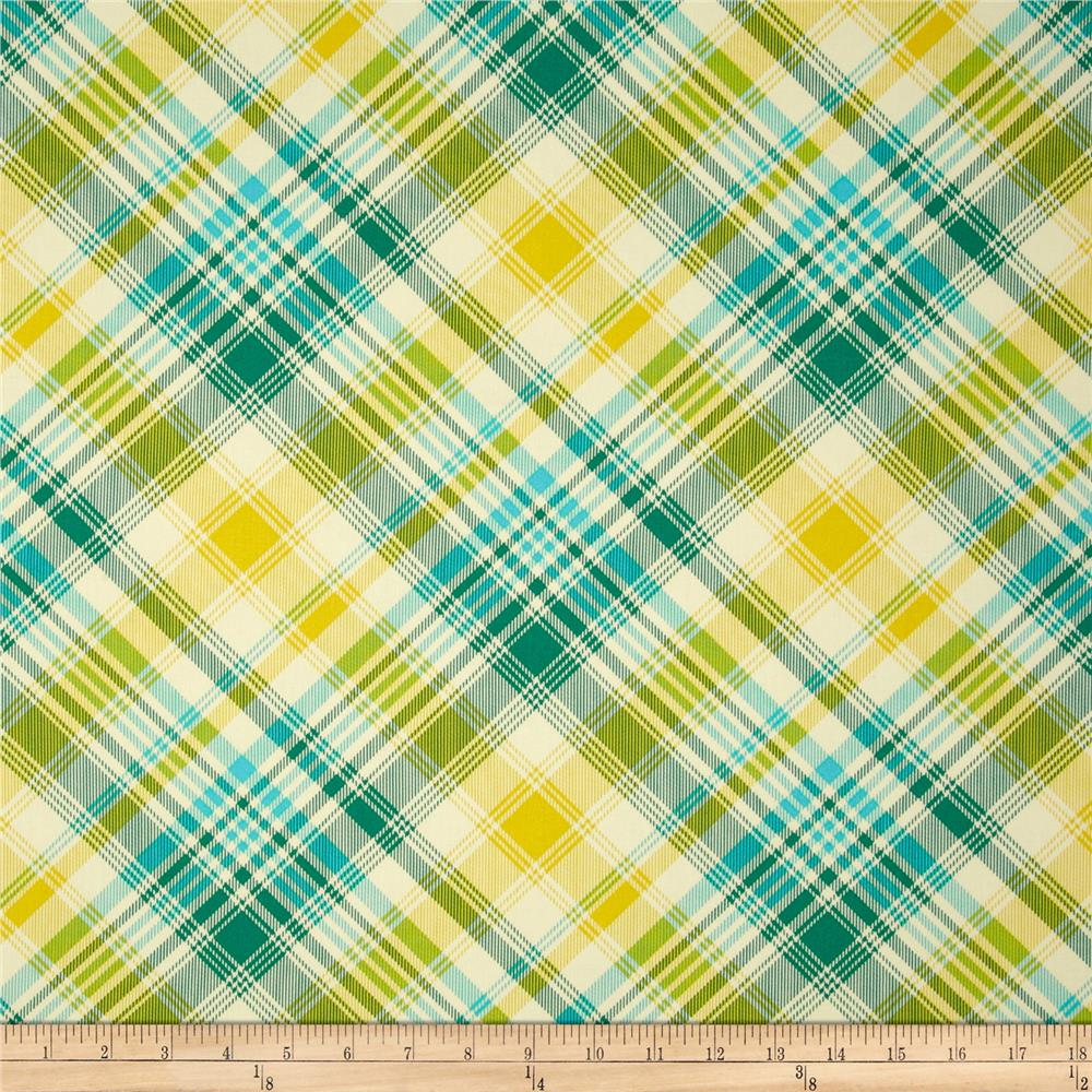 zoom joel dewberry home decor sateen notting hill tartan aquamarine - Discount Designer Home Decor