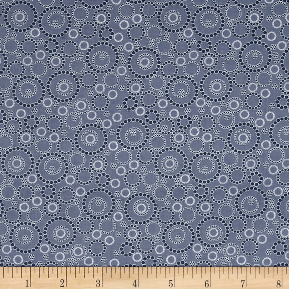 Image of Kitchen Love Beaded Circles Dark Gray Fabric
