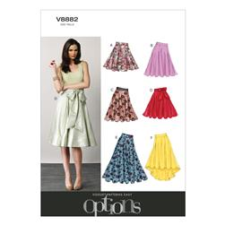 Vogue Misses' Skirt Pattern V8882 Size A50