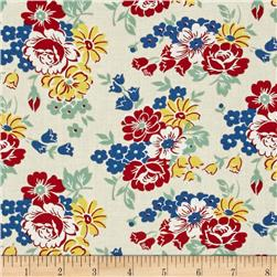 Fall Frolic Large Floral Ivory