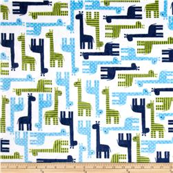 Minky Cuddle Urban Zoologie Giraffe Midnight Fabric