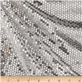 Mini Sequin Mesh Silver