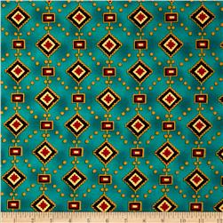 Michael Miller Painted Desert Diamonds & Dots Turquoise