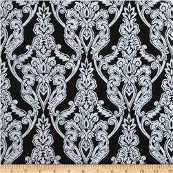"Fanci Felt 36"" x By the Yard Legacy Damask Black"